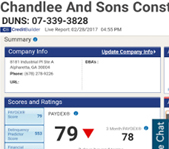 Chandlee-and-Sons-Construction-Paydex-Rating